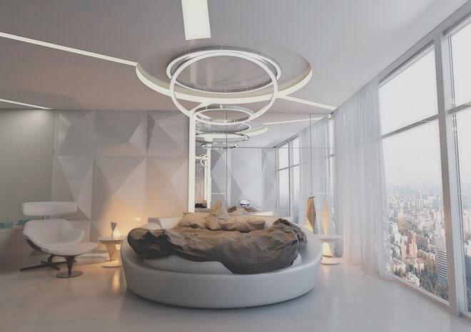 Phòng ngủ màu xám trắng 6