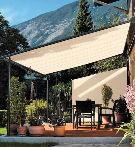 retractable awning material photo