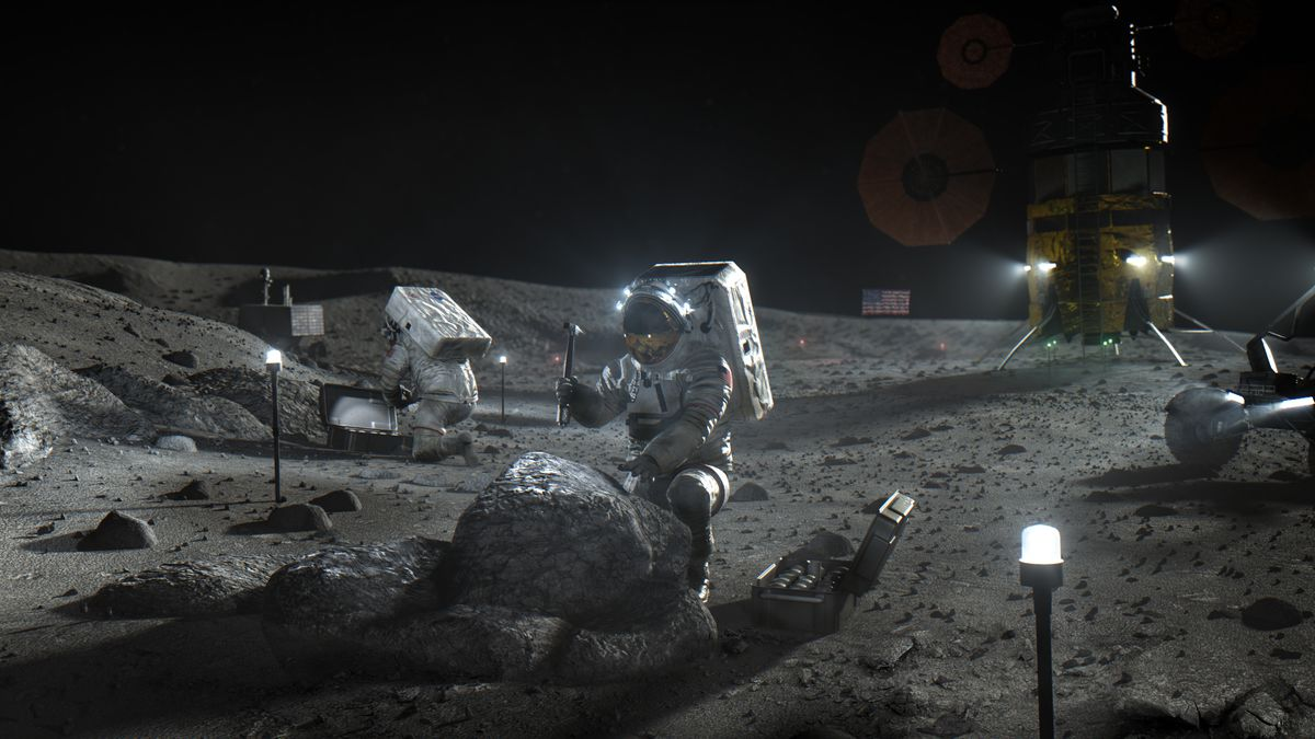 Kā varētu izskatīties Mēness izpēte