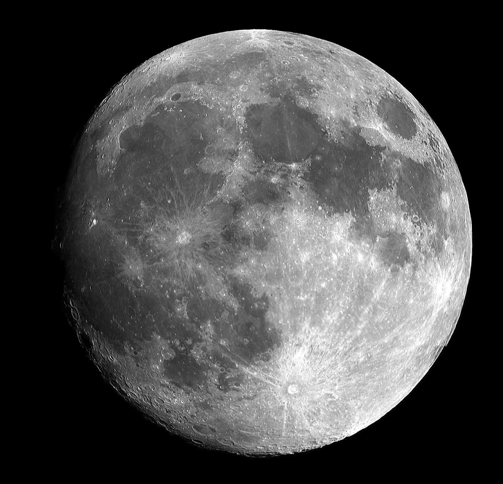 large grey moon