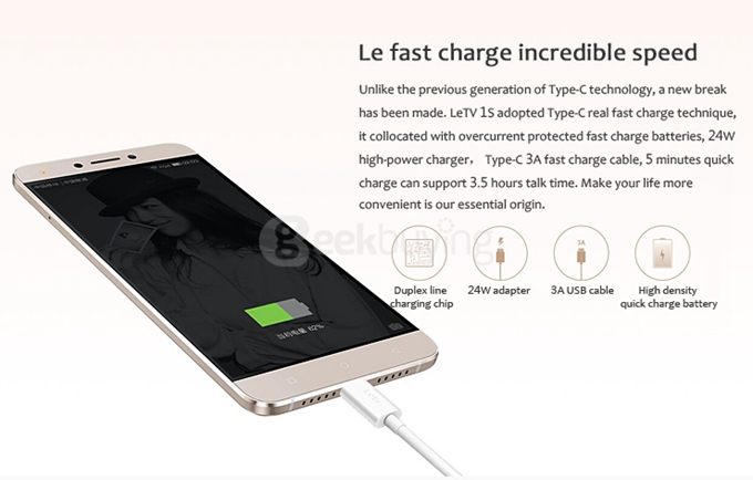 Le fast charge.