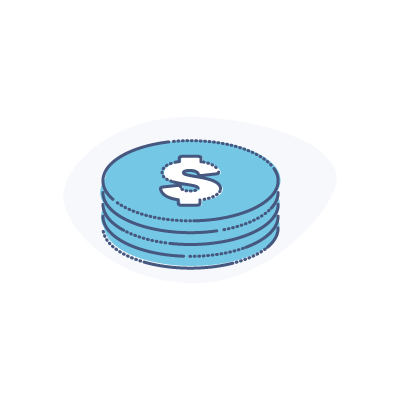 Credit Card Payment Processing 101 Guide - illustration of $ coins representing pricing structures