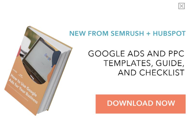 Hubspot and SEMRush ad
