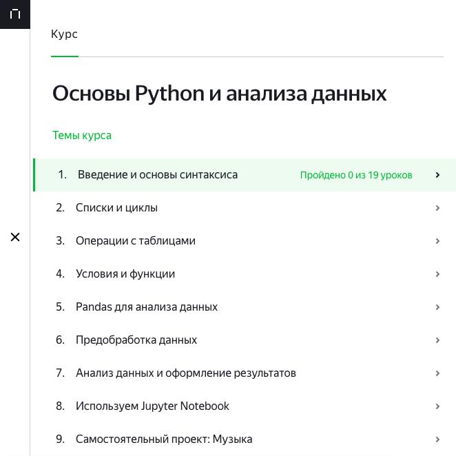 Вводные курсы от Яндекс.Практикума