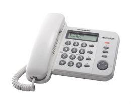 Panasonic - jednolinkový tel., displej, Data port, CLIP, barva bílá