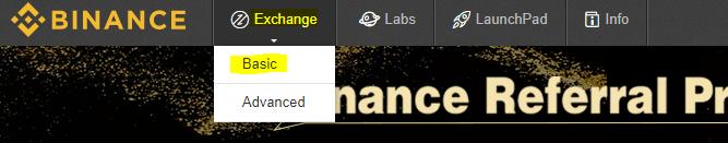 Đánh giá sàn Binance: Giao dịch bước 1.