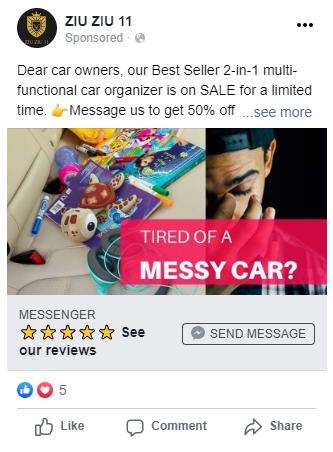 """Facebook """"Send Message"""" Ad"""