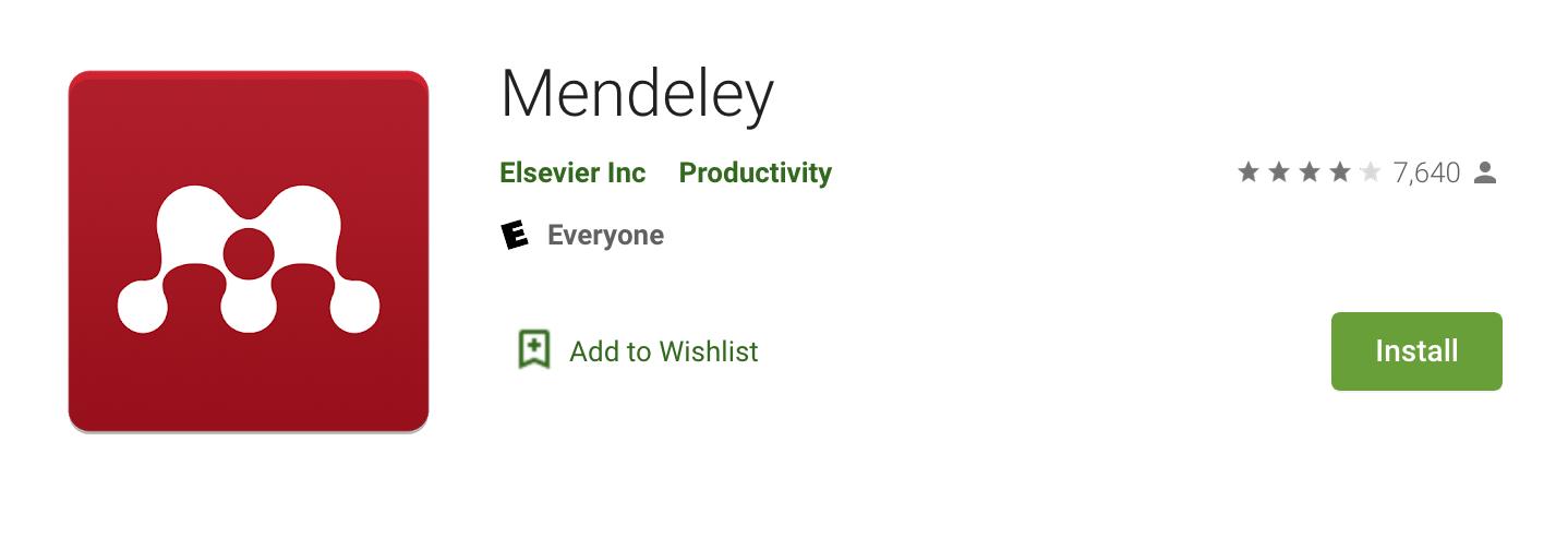 Mendeley App