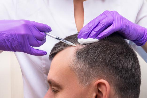 Premium Photo | Injection, treatment for hair loss