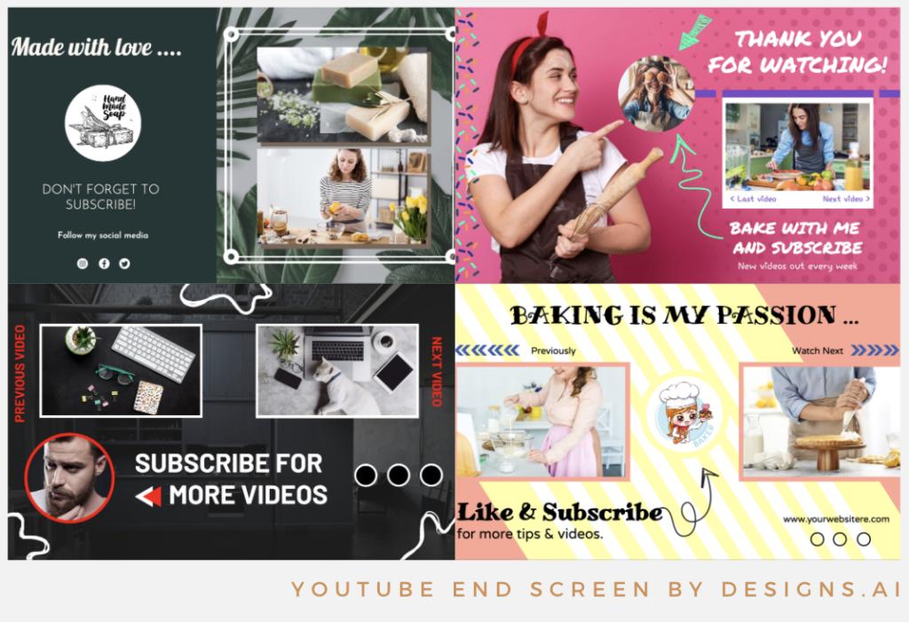Designs.ai |  Doit savoir créer une chaîne YouTube de qualité pour votre entreprise - Superbes modèles d'écran de fin YouTube disponibles dans Designs.ai