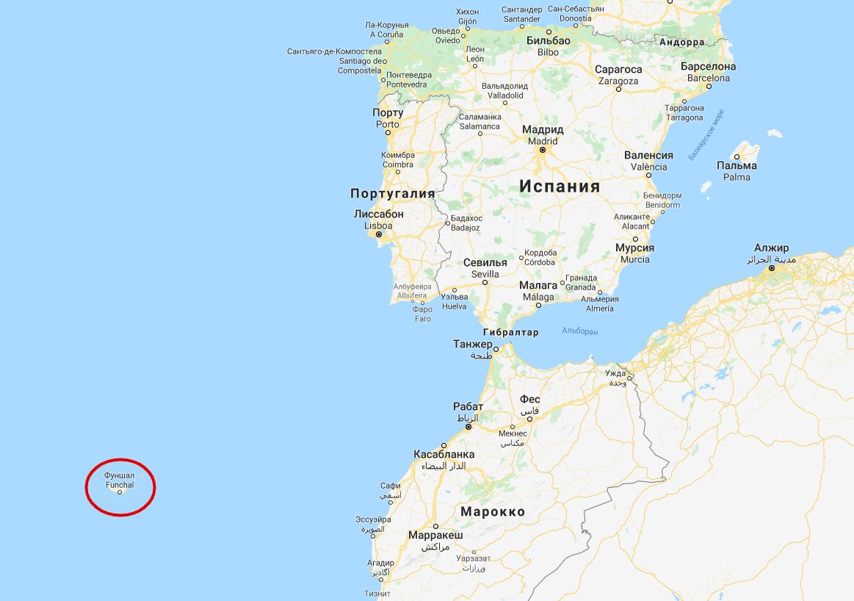 Фуншал – крупнейший город острова Мадейра. Он расположен на расстоянии 800 км от материковой части Португалии.