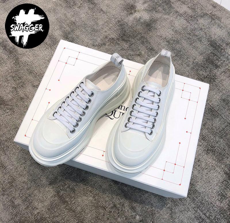 Giày Alexander mcqueen Chunky Sole Low White Like Auth được làm từ chất liệu cao cấp