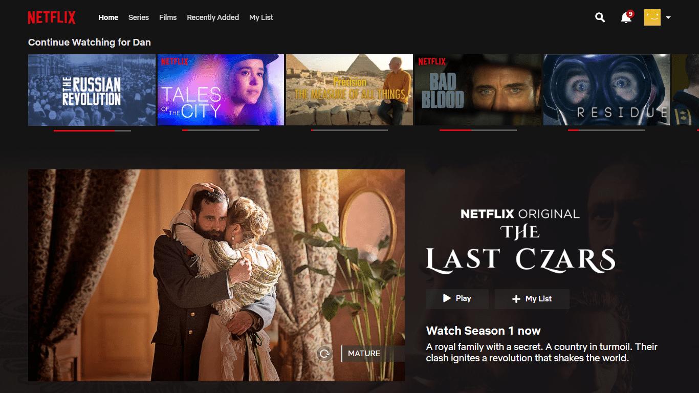 Netflix, müşterilerin kaldıkları yerden devam etmelerini sağlar