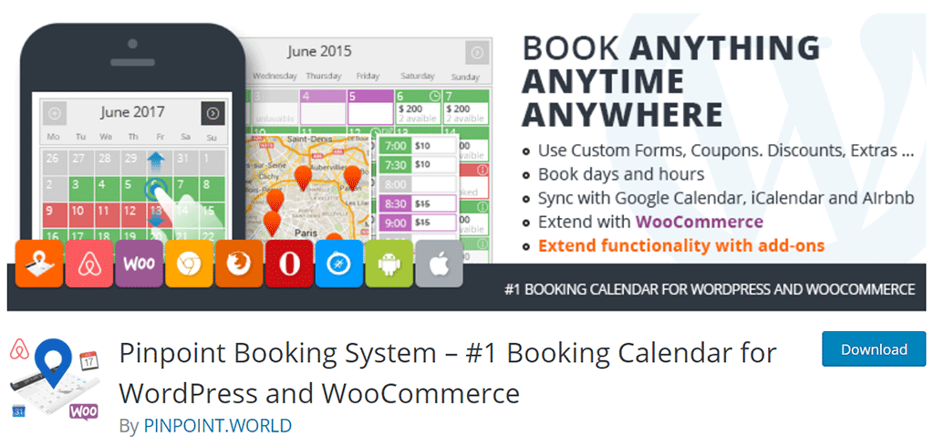 plugin de agenda booking calendar for wordpress and woocommerce
