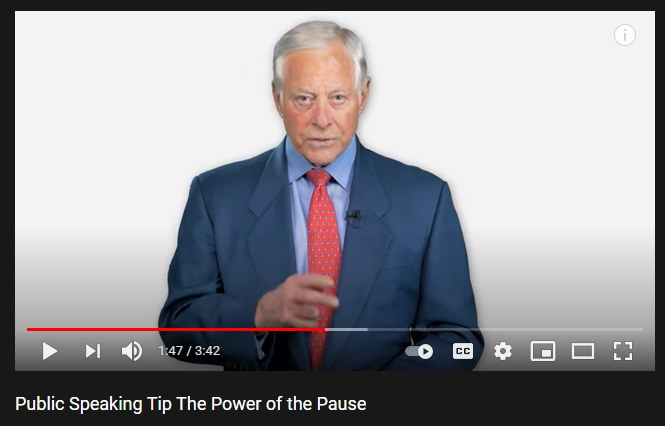 live presentation tips pause