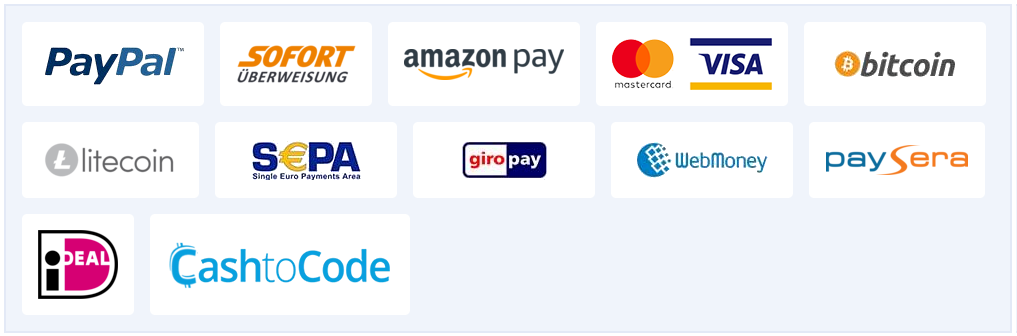 Premium Account Payment Options