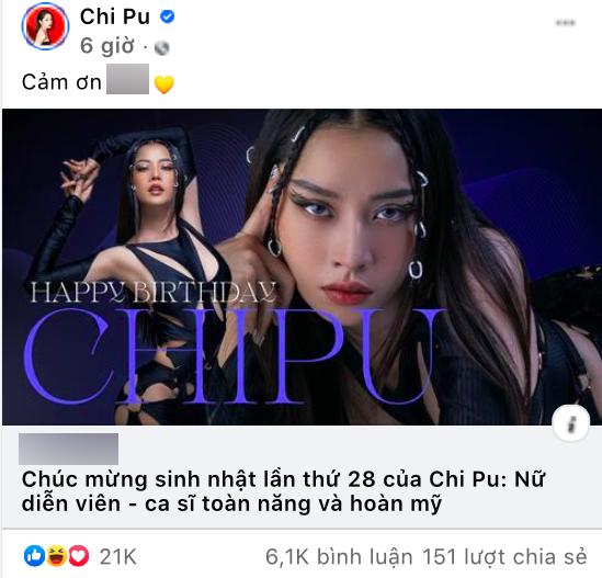 Lỡ tay chia sẻ bài viết khen ca sĩ toàn năng, fanpage của Chi Pu trở thành động anti, 6k bình luận toàn cà khịa