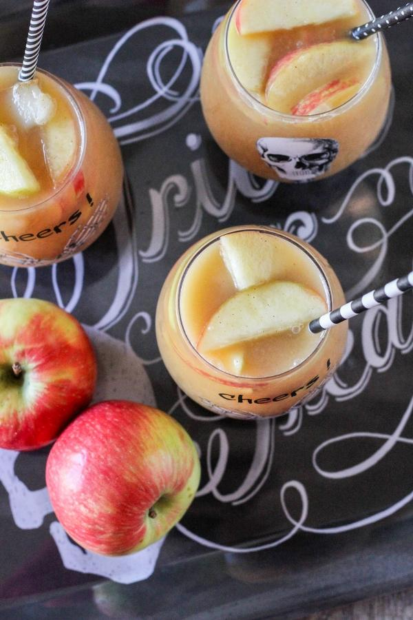This Caramel Apple Sangria is an absolute must-have this fall! It's easy, light and refreshing and will be the hit of your next party!