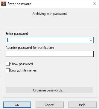 Type the chosen password