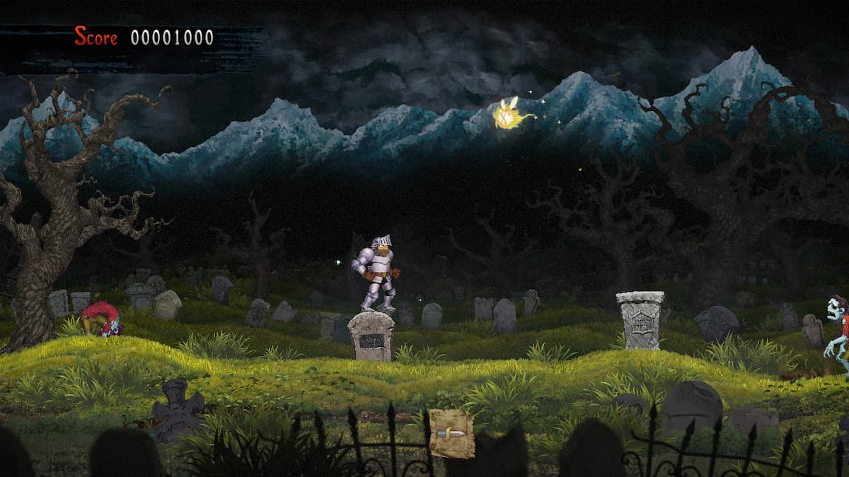 Ghosts 'n Goblins Resurrection Graveyard Bee 1