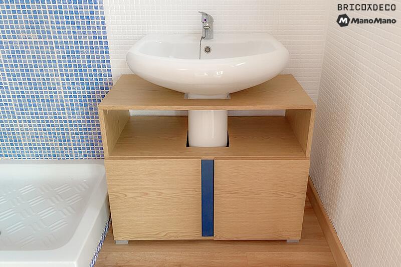 mueble para lavabo con pie