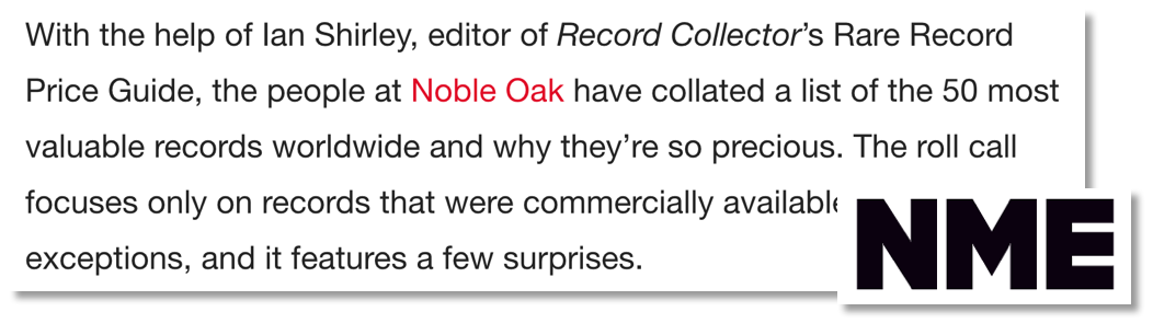 A screenshot of coverage we received from NME magazine that references an expert we used for a campaign.