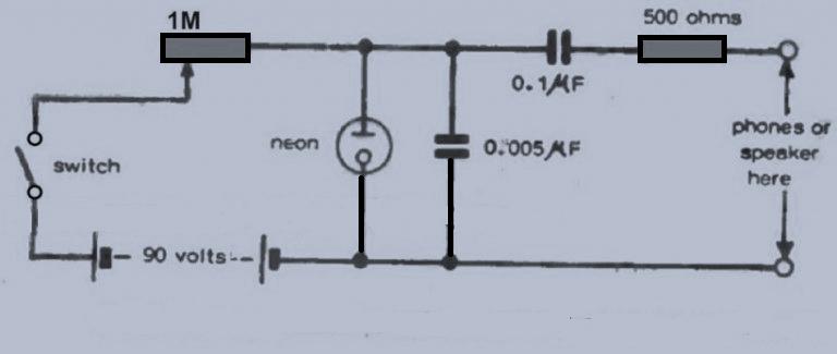 霓虹灯音调发生器电路