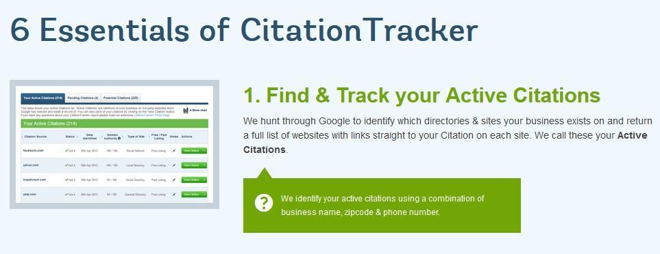 essentials of citation tracker