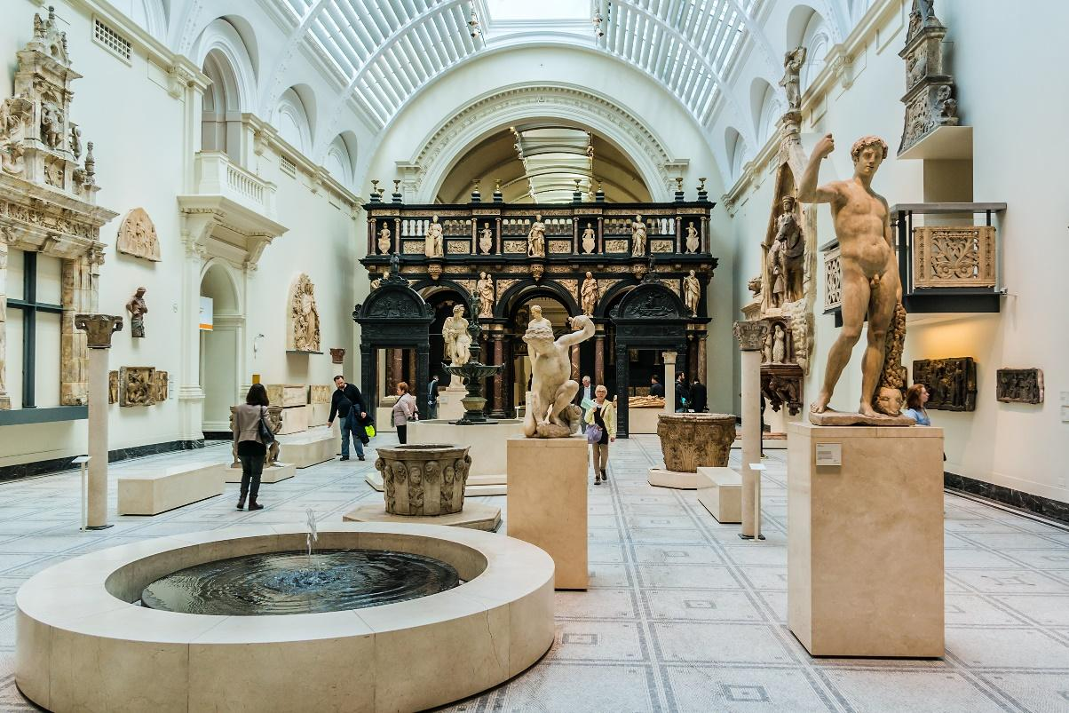 Inside the Victoria and Albert Museum, London