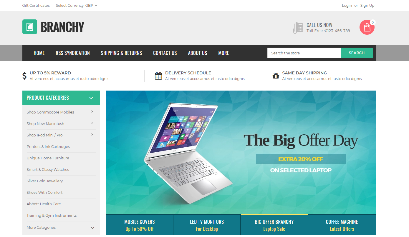 branchy Best Themes for BigCommerce