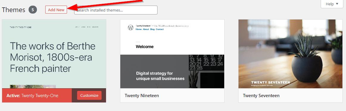 wordpress themes screenshot