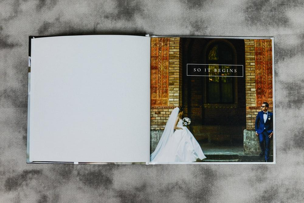 opened wedding book