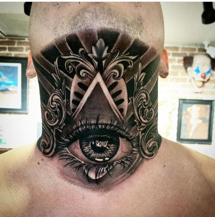 Neck & Head Filigree Tattoos
