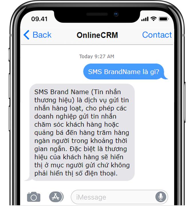 Tin nhắn SMS Brand Name