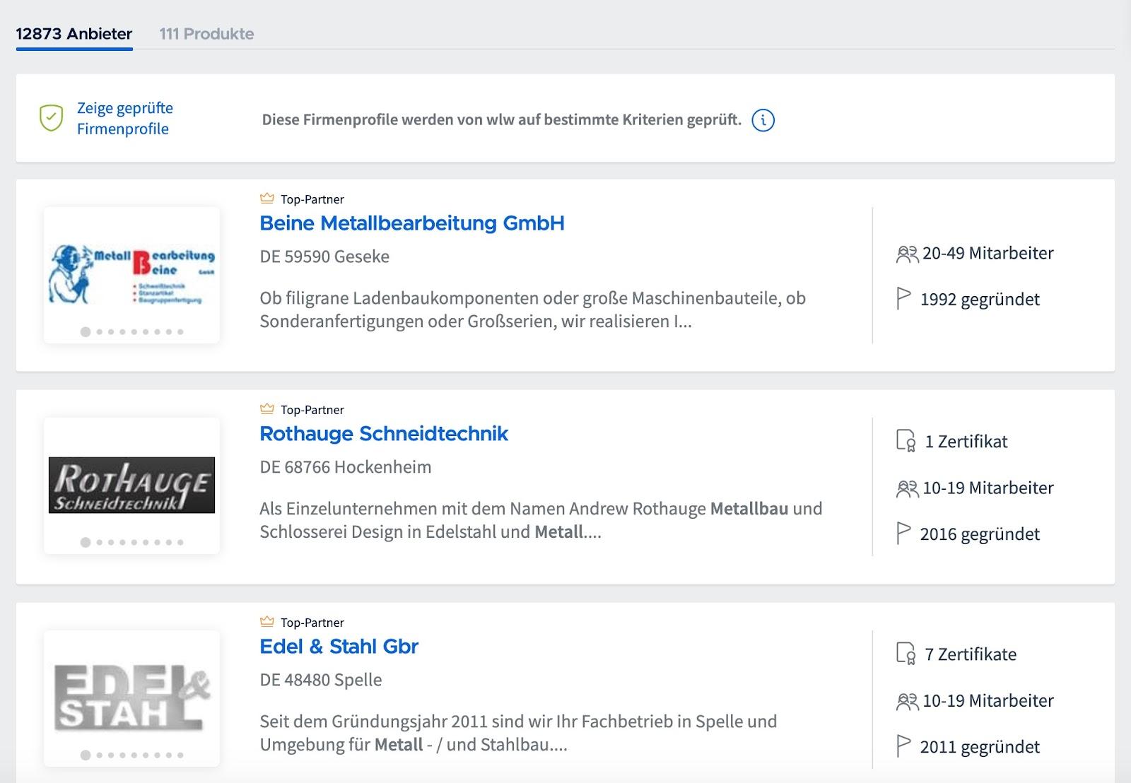 Hersteller finden Deutschland