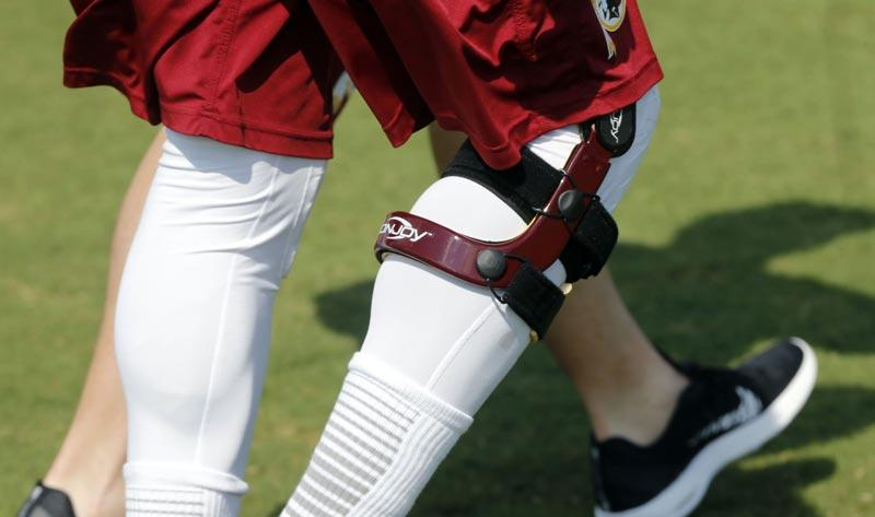 Image result for Do knee braces prevent injuries in football?