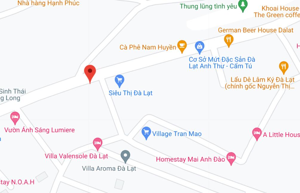 Địa điểm đón/trả khách tại Đà Lạt