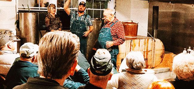 Chris Prillaman Entertaining Visitors To Twin Creeks Distillery