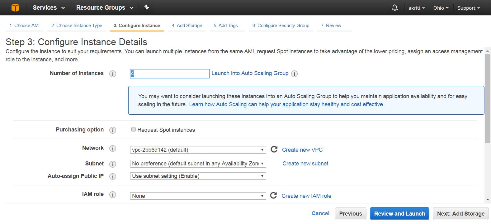 Create Virtual Machine on Amazon Web Services ( AWS ) 34