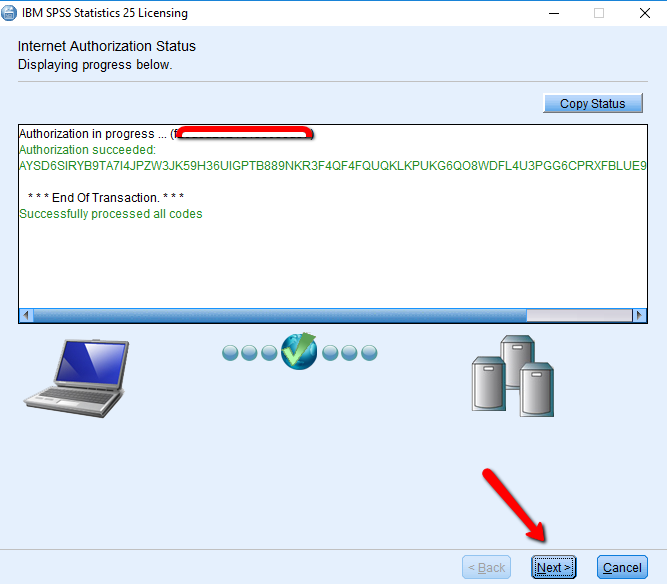 SPSS InstallShield Windows License Applied