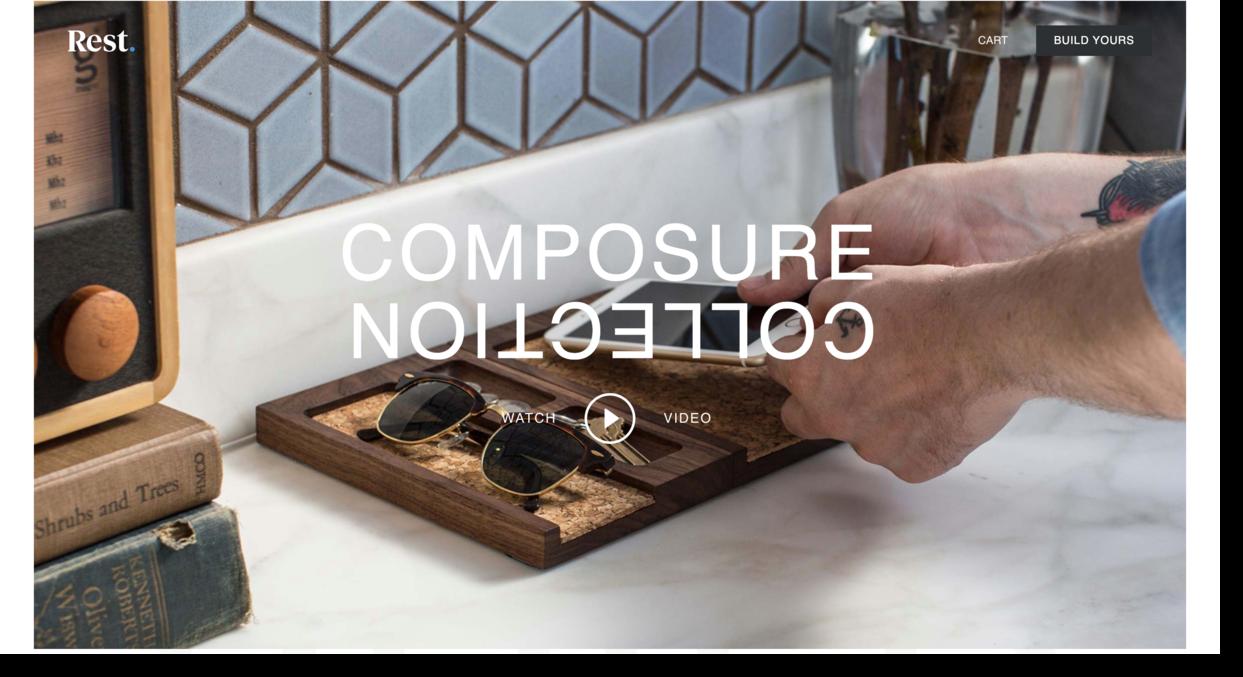 Rest website screenshot design studio Ecommerce Website Designs