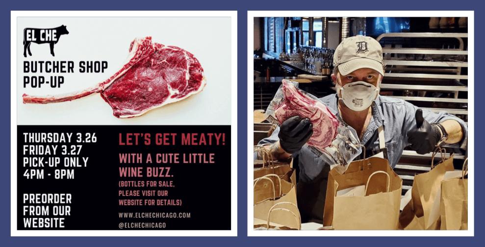 El Che Steakhouse's butcher shop