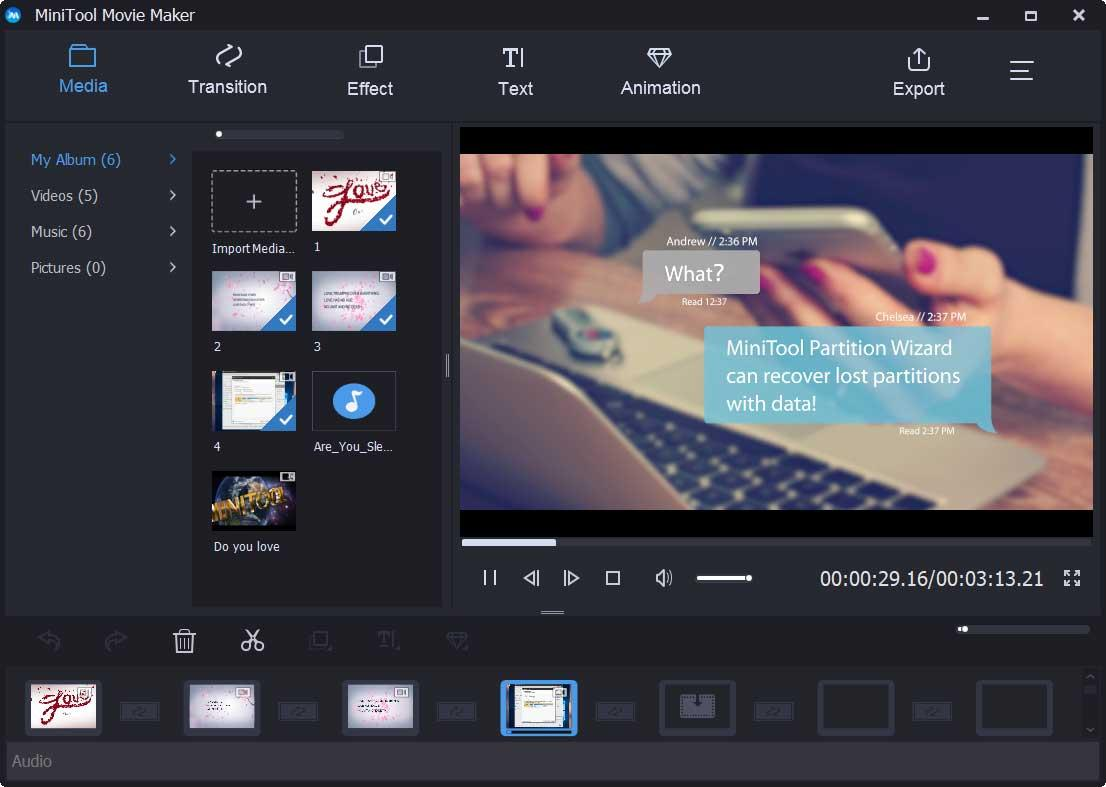 MiniTool Movie Maker (Video Editing Software with No Watermark)