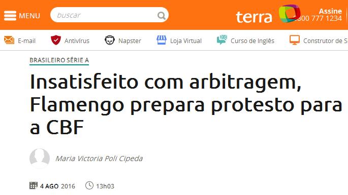 Porque o Flamengo reclama tanto da arbitragem?