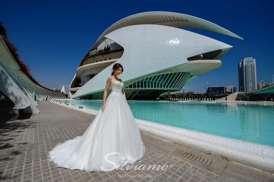 Весільну сукню до корсетом бюстьє
