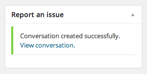 A link to the conversation is provided for you, once the conversation has been created.