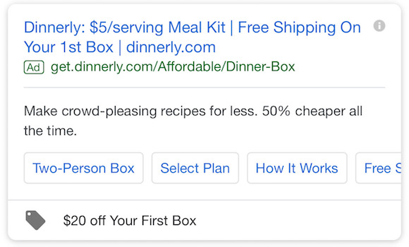 relevant Google Ad Extensions