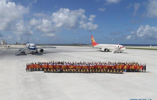 Second test flights performed at Nansha Islands