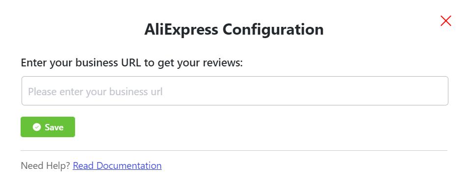 AliExpress reviews configuration