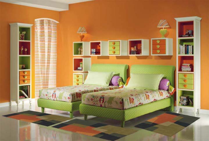 kids bedroom ideas - a brightly coloured children's bedroom
